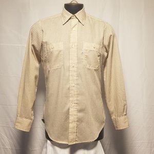 Levi's Movin on Mens Dress Shirt Checkers Medium